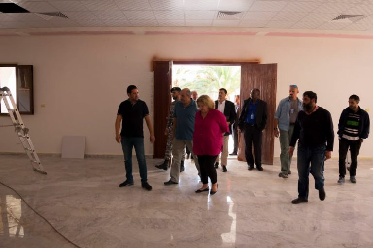 DSRSG Maria Ribeiro visits the new HNEC Headquarters' site, November 2018. © UNDP.
