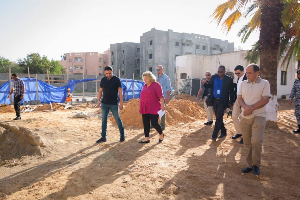 Inspection of civil works at the HNEC new Headquarters, November 2018. © UNDP.